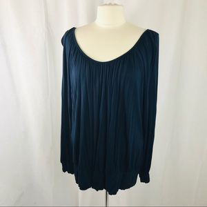 Ellen Tracey XL Navy Long Sleeve Blouse